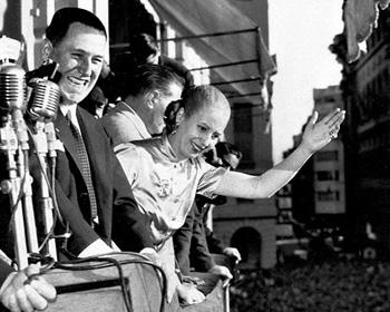 Juan Perón y Eva Duarte