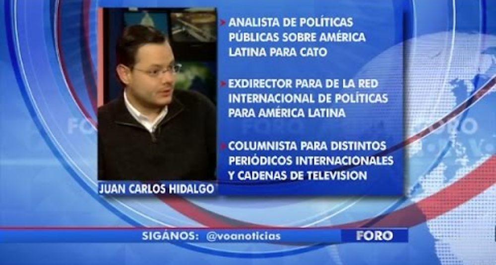 """Juan Carlos Hidalgo explica el sistema electoral de EEUU en """"Foro Interamericano"""" de VOA"""