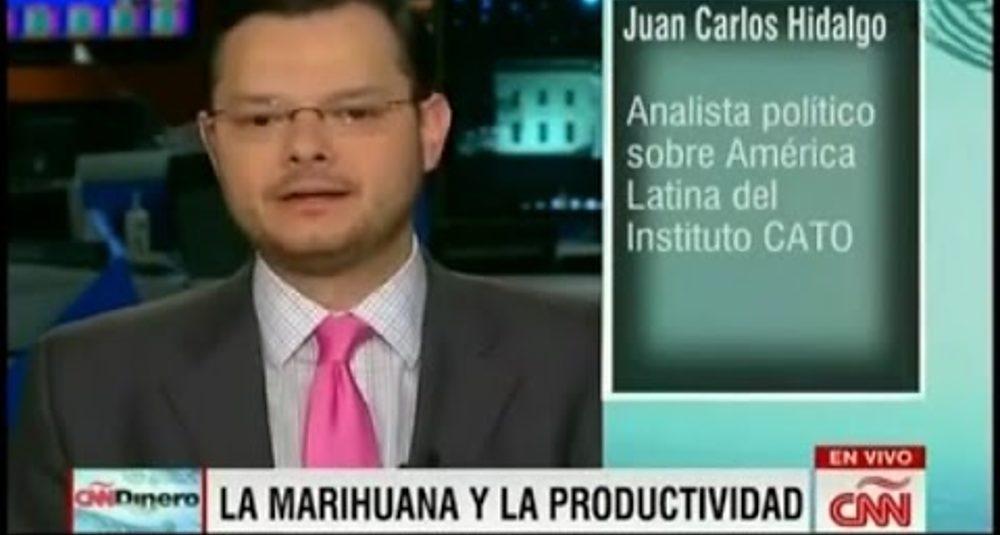 Juan Carlos Hidalgo debate la legalización de la marihuana en CNN Dinero