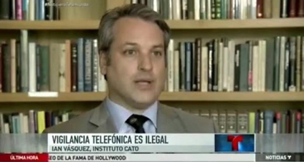 Ian Vásquez comenta el fallo sobre los rastreos telefónicos en Noticiero Telemundo