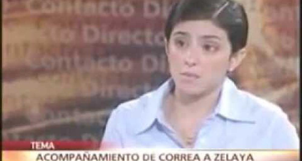 6/7/2009 - Gabriela Calderón discute el doble discurso de la OEA en Ecuavisa