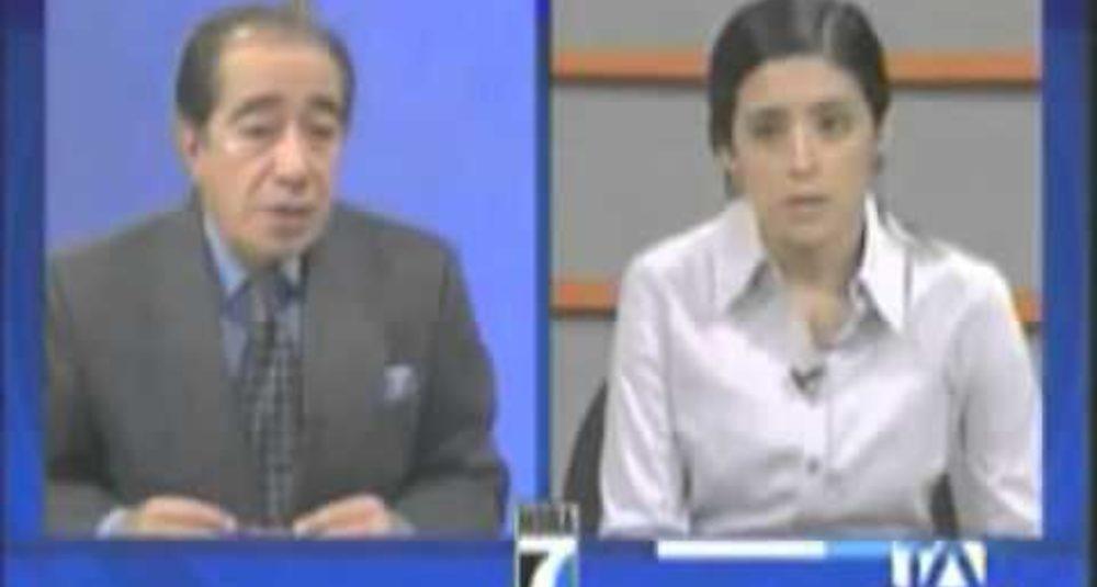 30/6/2009 - Gabriela Calderón discute la crisis en Honduras en Teleamazonas 1