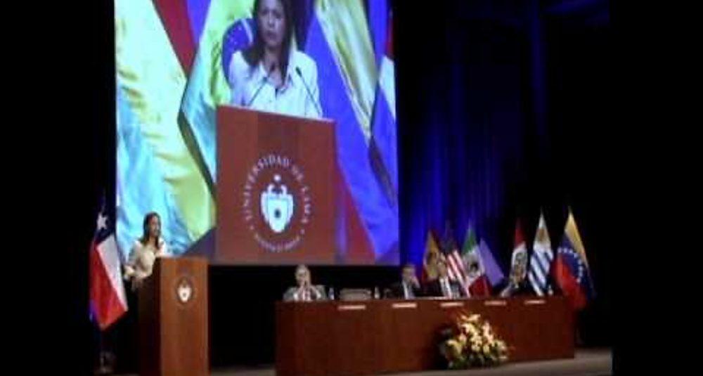 Maria Corina Machado    FIL 2014 Lima final